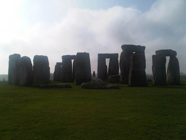 Visitors to Stonehenge are kept at a distance.