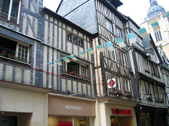 In AWAKENED BY A KISS the fictitious town of Maillard was modeled after this city. In the 17th century, shopkeepers lived above their shops. The second floor was the common living area and the top floor the bedroom. This is the city where Joan of Arc was put to death.
