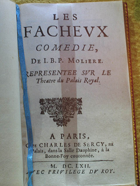 Play written by Molière in honor of Louis. It was performed for him and all the French court at Fouquet's party on August 17, 1661.