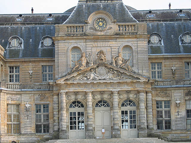 The North façade. This is the main entrance to Vaux.