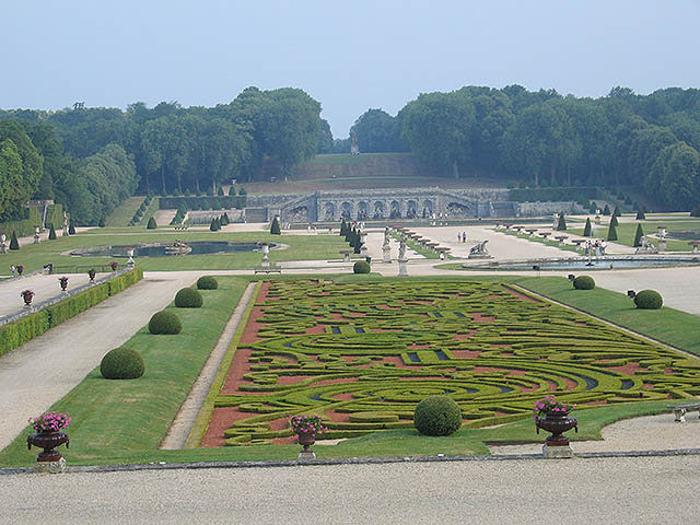 Part of the breathtaking gardens at Vaux.