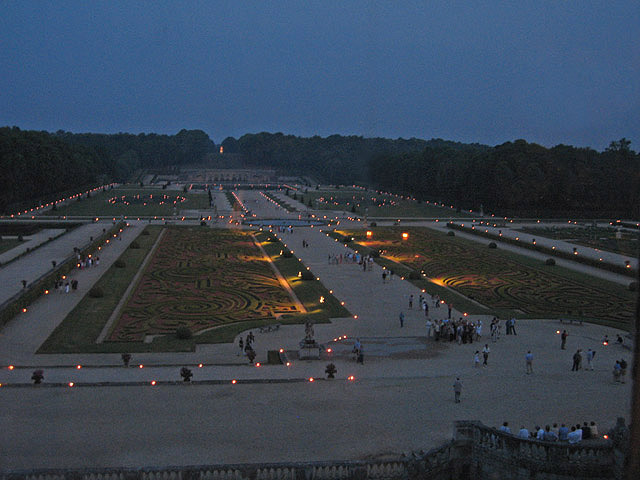 Incredible night view of the gardens. On certain nights, the chateau and gardens are illuminated with thousands of candles. It's truly a sight to behold! If you're in France, don't miss this!