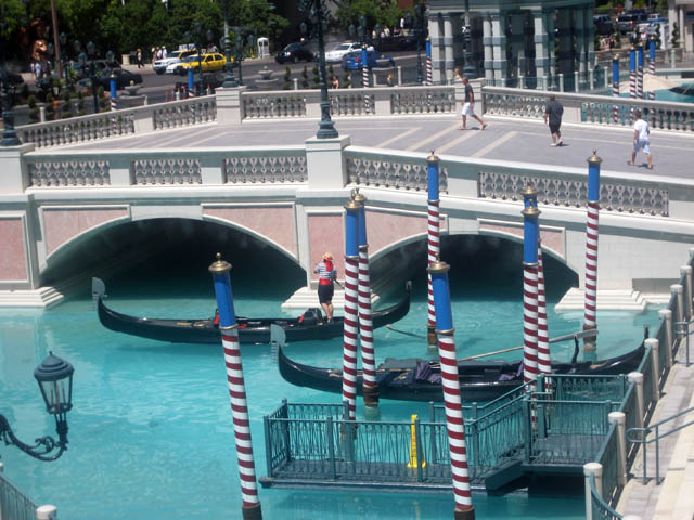 The Venetian – The outdoor gondola rides.
