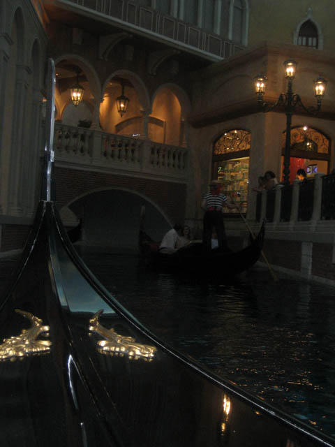The Venetian – What's a gondola ride without a smooch?