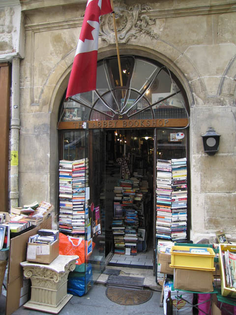 My favorite bookstore in Paris! Owned by a Canadian gentleman, this bookshop is in an old abbey. All the history books are in the darkened basement. Love it!