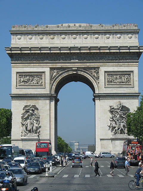 Napoleon's famous Arc de Triomphe. It was inspired by his greatest victory, the Battle of Austerlitz