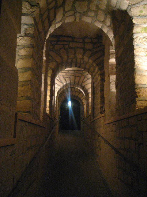 Exit out of the catacombs.
