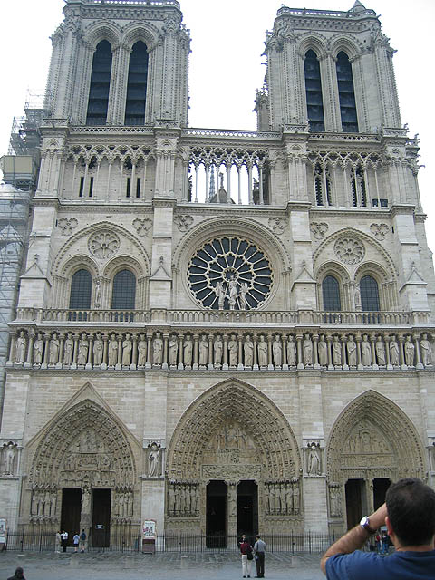Notre Dame—A Gothic masterpiece Where Louis XIV was married. Where Napoleon crowned himself Emperor of France. Pope Alexander III laid the foundation stone in 1163. It was finished in about 1345.