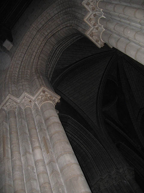 One of the towering arches inside the Cathedral.