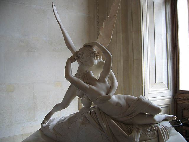 Psyche Revived by Cupid's Kiss, by Antonio Canova, 1793 Marble