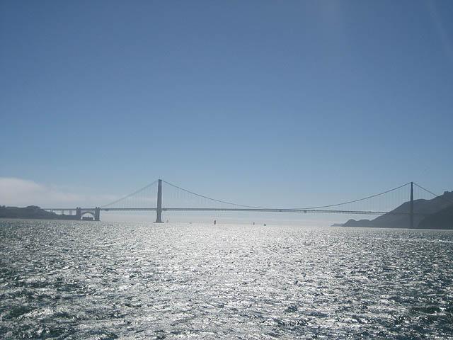 The Golden Gate Bridge.