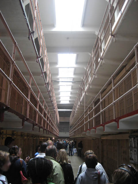 Inside Alcatraz. Infamous Al Capone was one of the many notable prisoners held here.